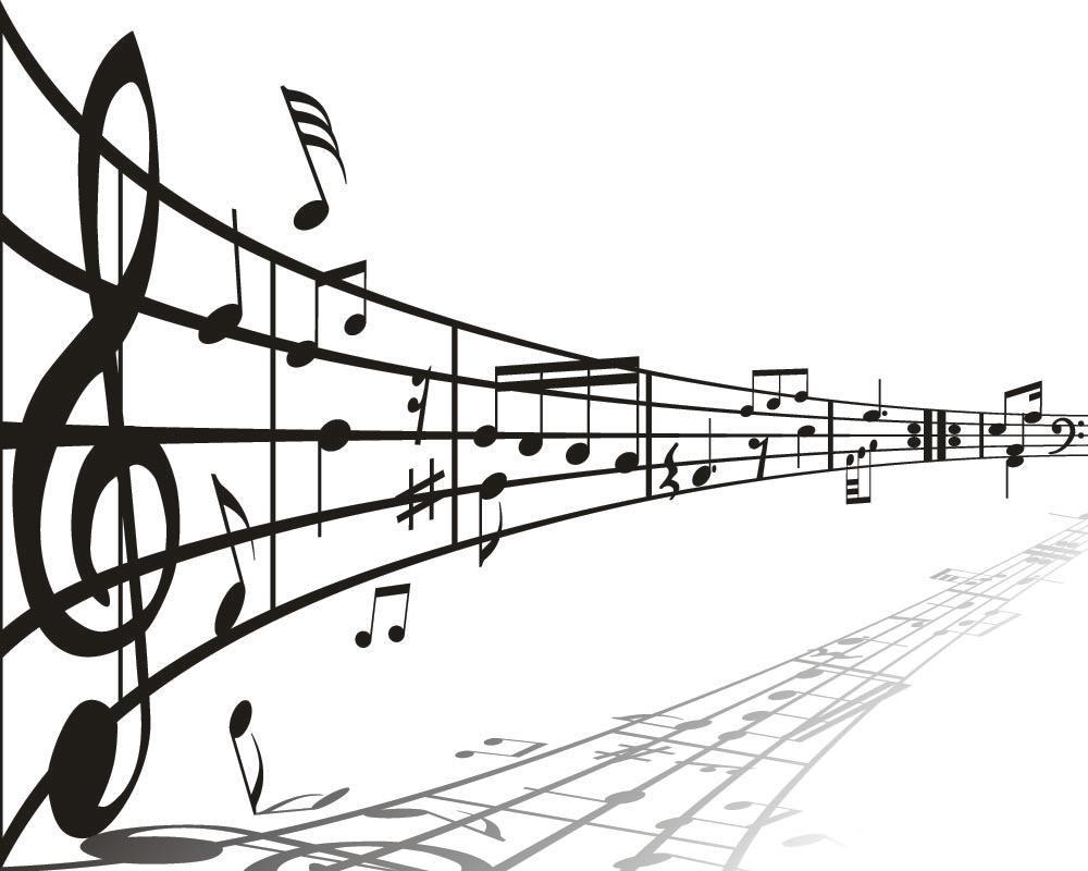 Desenhos vetorizados - Musica - Instrumentos musicais